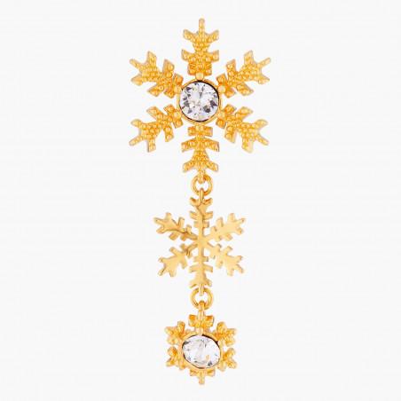 Bracelet jonc amas de roches en cubes dorés et de verre taillé (S)