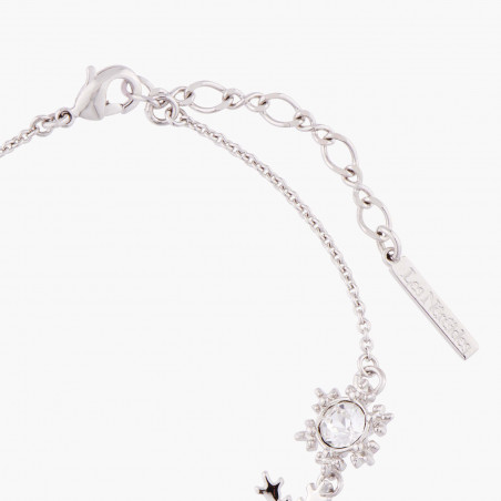 Collier lettre I fleurie