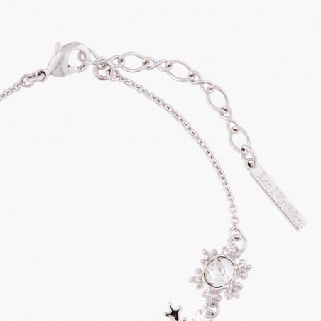 Flowered letter I necklace