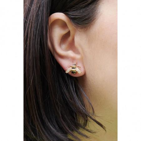 Boucles d'oreilles clip 4 pierres vert sapin