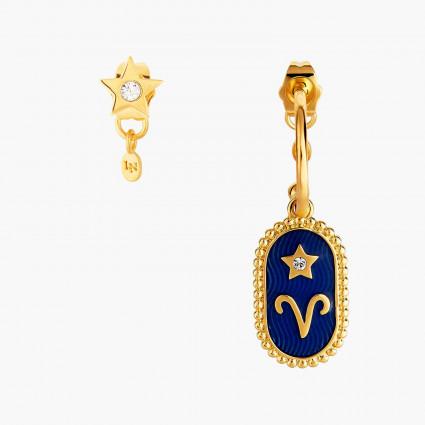 Boucles D'oreilles Creoles Boucle D'oreille Signe Astrologique Bélier80,00€ ANCS101T/1Les Néréides