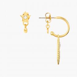 Light pink flower French hook earrings