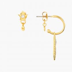 Boucles D'oreilles Creoles Boucle D'oreille Signe Astrologique Sagittaire80,00€ ANCS109T/1Les Néréides