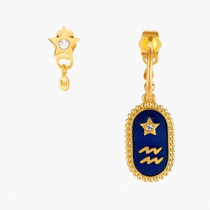 Boucles D'oreilles Creoles Boucle D'oreille Signe Astrologique Verseau80,00€ ANCS111T/1Les Néréides