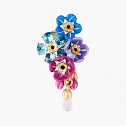 Boucles D'oreilles Clip Boucles D'oreilles Clips Grappe De Myosotis Et Boutons De Roses150,00€ ANBM101C/1Les Néréides