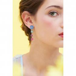 Boucles D'oreilles Pendantes Boucles D'oreilles Pendantes Tiges Myosotis Et Boutons De Roses170,00€ ANBM102T/1Les Néréides