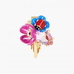 Boucles D'oreilles Clip Boucles D'oreilles Clips Pétale De Cristal Taillé Fleurs Et Coccinelles120,00€ ANBM104C/1Les Néréides