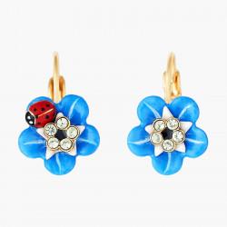Boucles D'oreilles Dormeuses Boucles D'oreilles Dormeuses Fleur De Mysosotis Et Coccinelle.90,00€ ANBM105D/1Les Néréides