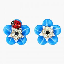 Boucles D'oreilles Tiges Boucles D'oreilles Tiges Fleur De Myosotis Et Coccinelle.90,00€ ANBM105T/1Les Néréides