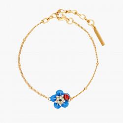 Bracelets Fins Bracelet Fin Fleur De Myosotis Et Sa Petite Coccinelle80,00€ ANBM203/1Les Néréides