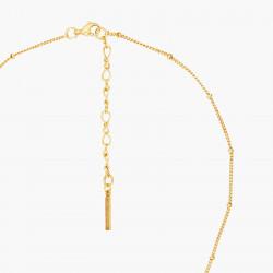 Colliers Pendentifs Collier Pendentif Pétale De Verre Taillé Fleurs Et Coccinelle130,00€ ANBM303/1Les Néréides