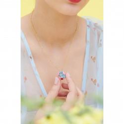 Colliers Pendentifs Collier Médaillon Secret Fleurs De Myosotis Boutons De Rose Et Coccinelle Caché160,00€ ANBM304/1Les Néré...