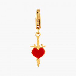 Dagger And Heart Charm