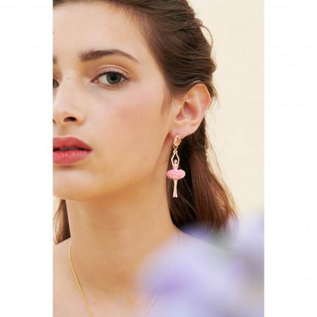 Boucles d'oreilles 4 pierres terre de sienne