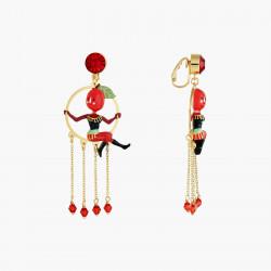 Boucles D'oreilles Originales Boucles d'oreilles clips les voltigeuses sœurs prune80,00€ ANFC101C/1N2 by Les Néréides