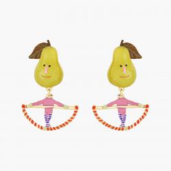 Boucles D'oreilles Originales Boucles D'oreilles Clips Poires Et Trapèze Fruit Circus70,00€ ANFC102C/1N2 by Les Néréides