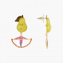 Boucles D'oreilles Originales Boucles D'oreilles Tiges Poires Et Trapèze Fruit Circus70,00€ ANFC102T/1N2 by Les Néréides