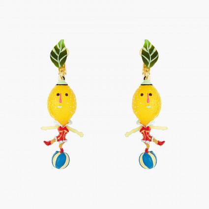 Boucles D'oreilles Originales Boucles D'oreills Clips Citrons Et Ballons Fruit Circus70,00€ ANFC103C/1N2 by Les Néréides