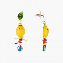 Boucles D'oreilles Originales Boucles D'oreills Tiges Citrons Et Ballons Fruit Circus70,00€ ANFC103T/1N2 by Les Néréides