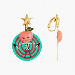 Boucles D'oreilles Originales Boucles d'oreilles clips pêches , couteau et cible fruit circus75,00€ ANFC104C/1N2 by Les Néré...