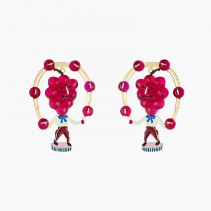 Boucles D'oreilles Originales Boucles D'oreilles Tiges Raisin Fruit Circus75,00€ ANFC105T/1N2 by Les Néréides