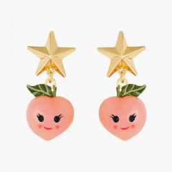 Boucles D'oreilles Originales Boucles D'oreilles Tiges Pêches Et Etoiles Fruit Circus50,00€ ANFC108T/1N2 by Les Néréides
