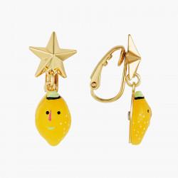 Boucles D'oreilles Originales Boucles D'oreilles Clips Citrons Et Etoiles Fruit Circus50,00€ ANFC110C/1N2 by Les Néréides