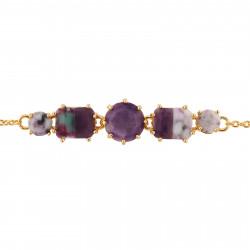 Bracelets Fins Bracelet 5 Pierres Violettes Marbrées