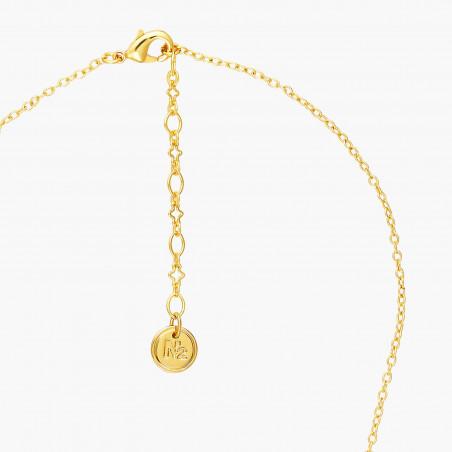 Bracelet manchette chouette et ses petits sur une branche fleurie (S)