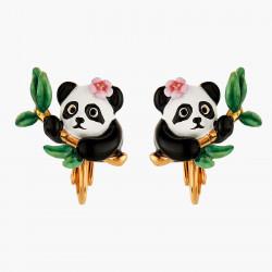 Pendientes De Clip Panda Y...