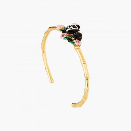 Bracelet petite églantine et feuilles
