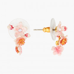 Boucles D'oreilles Pendantes Boucles D'oreilles Tiges Fleurs Roses De Cerisier Du Japon110,00€ ANHA103T/1Les Néréides