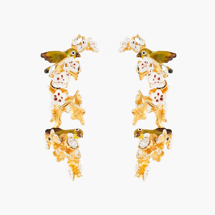 Boucles D'oreilles Creoles Boucles D'oreilles Tiges Fleurs Et Branches De Cerisier195,00€ ANHA104T/1Les Néréides