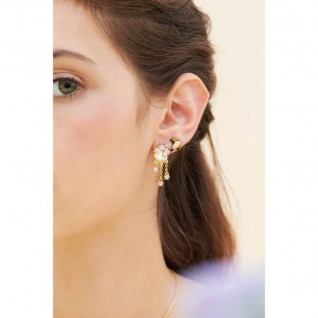 Boucles d'oreilles faon sur pierre reconstituée