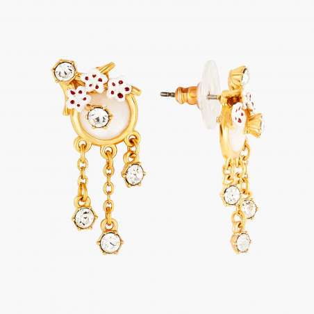 Fawn on reconstituted stone earrings
