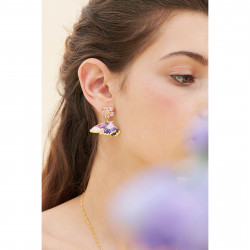 Boucles D'oreilles Pendantes Boucle D'oreille Tige Pétales De Fleur Et Papillons Terinos180,00€ ANHA107T/1Les Néréides