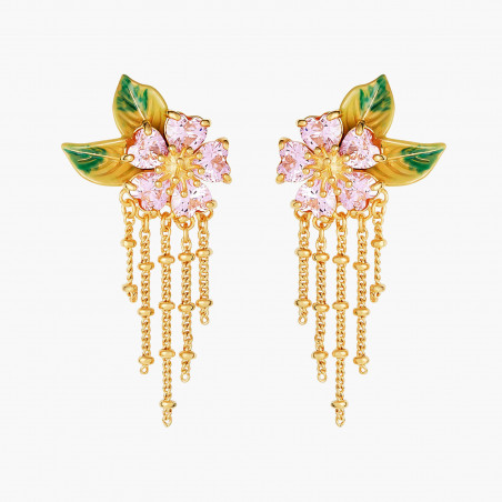 Golden metal lace and crystals symoblizing the Navagraha hoops