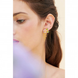 Boucles D'oreilles Pendantes Boucle d'oreille tige pétales de fleur et feuillage120,00€ ANHA108T/1Les Néréides