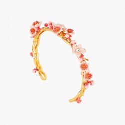 Pulsera Rígida Flores Rosas...
