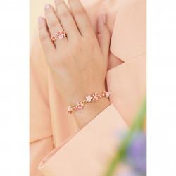 Bracelets Jonc Bracelet Jonc Fleurs Roses De Cerisier Du Japon Et Branche Dorée210,00€ ANHA202/1Les Néréides