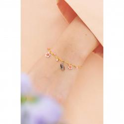 Bracelets Fins Bracelet Fin Papillon Du Japon Et Petites Fleurs De Cerisier95,00€ ANHA210/1Les Néréides