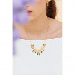 Fawn on reconstituted stone necklace