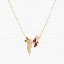 Colliers Plastrons Collier Fin Pétales De Fleur En Cœur Et Papillon Terinos150,00€ ANHA307/1Les Néréides