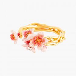 Bagues Ajustables Bague Ajustable Fleurs Roses De Cerisier Du Japon Et Branche Dorée95,00€ ANHA602/1Les Néréides