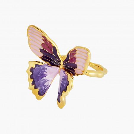 Boucles d'oreilles clip chouette sur sa branche fleurie et pampilles