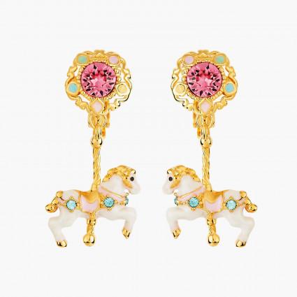 Boucles D'oreilles Clip Boucle d'oreille clip carrousel et cheval de manège130,00€ ANIP103C/1Les Néréides