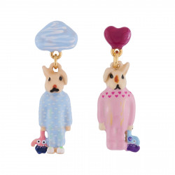 Boucles D'oreilles Boucles D'oreilles Frère Et Sœur Lapins En Pyjama