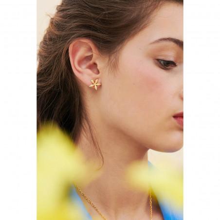 Bracelet fleur rose et petite perles