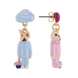 Boucles D'oreilles Boucles D'oreilles Frère Et Sœur Lapins En Pyjama75,00€ AHNA102T/1N2 by Les Néréides