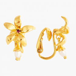 Boucles D'oreilles Clip Boucles d'oreilles clips jasmin étoilé et perle90,00€ ANJA102C/1Les Néréides